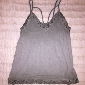 ribbed lace trim cami